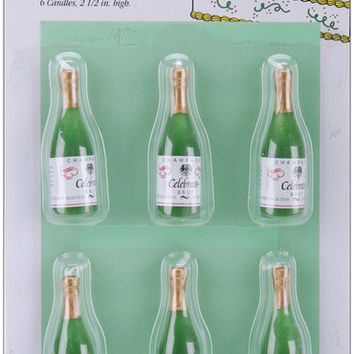 """champagne candles & cake decorations - 2.5"""""""