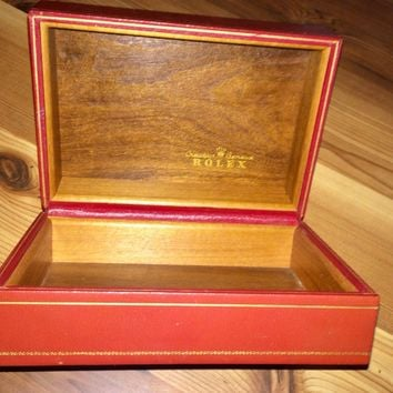 Vintage Rolex Day Date President Red Watch box. # 56.01.1