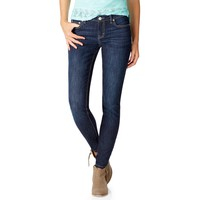 Aeropostale  Womens Bayla Skinny Core Dark Wash Jeans (Short)