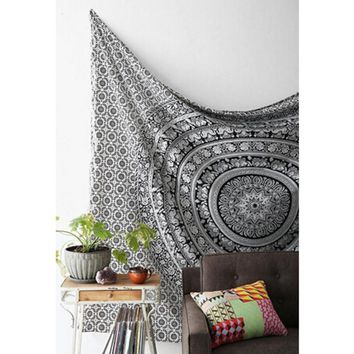 Wall Tapestry Elephant Printed Bohemian Rectangular Tapestry Wall Hanging Mandala Bedspread Shawl Ethnic Art YL879787