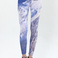 Iceberg Print Soft-touch Leggings [ALD0028] - $14.99 :