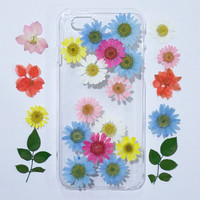 iPhone 5s Case Floral, iPhone 5c Case Clear, Pressed Flower iPhone 5s Case, samsung galaxy s6 case,  pressed flower samsung galaxy case