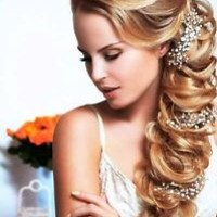 Bridal Crystal & Pearl Wedding Proms Gold silver Hair Vine Headband Tiara Crown