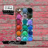 Paint Palette Watercolor Set Rainabow Cute Tumblr Case iPod Touch 4th Generation or iPod Touch 5th Generation Rubber or Plastic Case