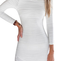White Cut-out Back Body-con Dress