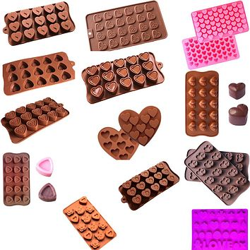 Heart-Shaped 3D Silicon Mold Cake Bakeware Mold DIY Chocolate Jelly Candy Pastry Bar Soap Mould Silicone Cake Molds 3D
