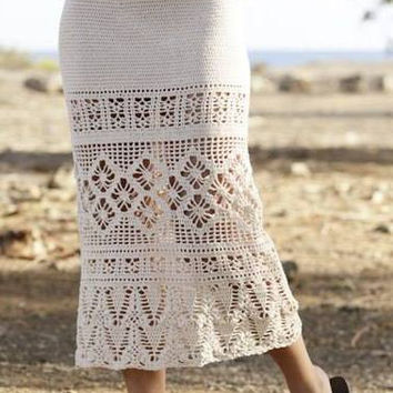 Skirt, Summer, handmade, crochet, cotton, custom