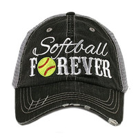 Softball Forever Sports Women's Mesh Trucker Hat Cap by Katydid
