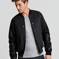 Shades Of Grey By Micah Cohen Heritage Baseball Jacket