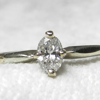 Engagement Ring Oval Diamond Ring 14k Ring Vintage Engagement Ring Solitaire Engagement Ring Vintage Ring Diamond 14K Wedding