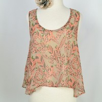 Indie feather sheer tank - Simply Audrey