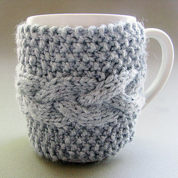 Grey Cup Cozy Mug Sleeve by GoodWeather on Etsy