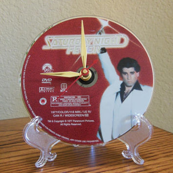 SATURDAy NIGHT FEVER DVD Desk Clock - Stand Included