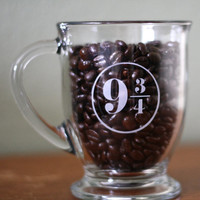 Harry Potter - Platform 9 3/4 Glass Coffee Mug