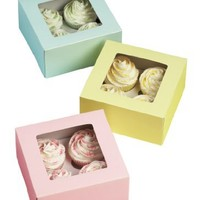 Wilton 4 Cavity Pastel Cupcake Boxes, 3 Count