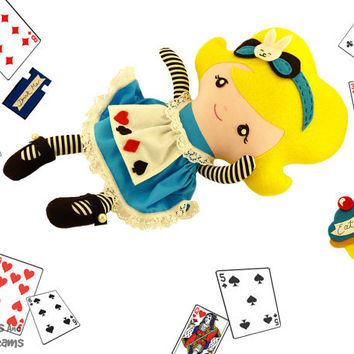 Alice in Wonderland Sewing Pattern PDF Rag Doll DIY Tutorial Instant Download