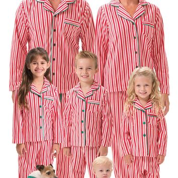 Candy Cane Fleece Matching Family Pajamas | View All | Matching Family Sets | Pajamagram
