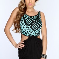 Mint Black Knotted Center Cut Out Dress @ Amiclubwear sexy dresses,sexy dress,prom dress,summer dress,spring dress,prom gowns,teens dresses,sexy party wear,women's cocktail dresses,ball dresses,sun dresses,trendy dresses,sweater dresses,teen clothing,even