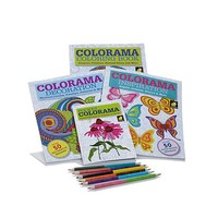 Colorama Coloring Books Collection with Coloring Pencils | HSN
