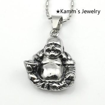 Buddha Charms 316L stainless steel Neclace Pendant Amulet ganesha labradorite islamic jewelry christmas charms mjolnir KP026