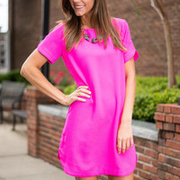 I'm Always Bright Dress, Fuchsia