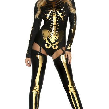Bad to the Bone - Black/Gold