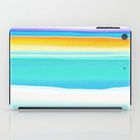 The Arctic Sea Abstract 2 iPad Case by Jen Warmuth Art And Design