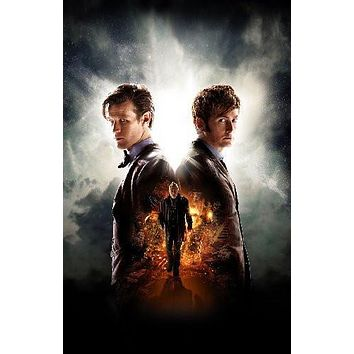 Doctor Who 50Th Anniversary Tennant Smith poster Metal Sign Wall Art 8in x 12in