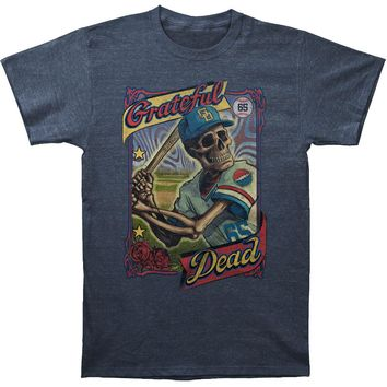 Grateful Dead Men's  GD On-Deck Slim Fit T-shirt Navy Rockabilia