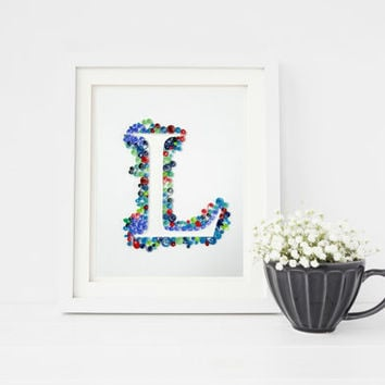 Letter Initial Art, Custom Decor Sign, Personalized Gift For Couple, Wedding Gift, Paper Quilled, Monogram, Couple Gift, Frame Sold Separate