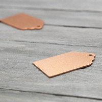 Copper Tag Stamping Blank, Luggage Tag Blank,  Pack of 6, Metal Stamping, Copper Blanks, Stamping Supplies,  Metal Blank, Stamping Blank