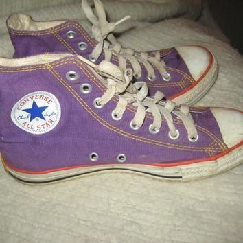 vintage converse high top chuck taylor all stars purple size mens 7 womens 9