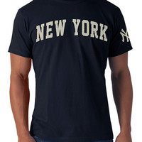 '47 Brand New York Yankees Mens Short Sleeve Fashion T-Shirt - Fall Navy Blue