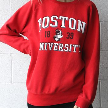 """Boston University"" Vintage Sweatshirt"
