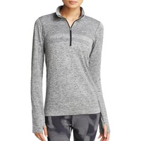 Nike Womens Moisture Wicking Heathered 1/4 Zip Jacket