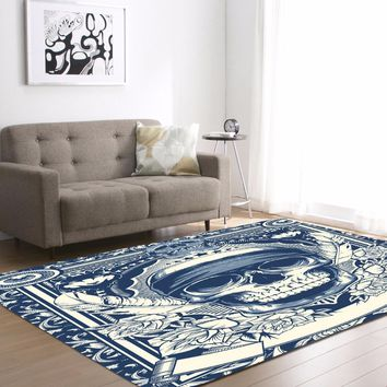 Feather Skull Delicate Europe Soft Carpet For Living Room Bedroom Rug Home Floor
