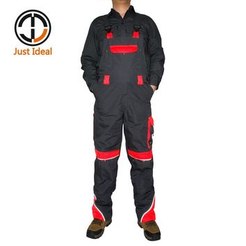 Mens Cargo Bibpant Multi Pocket Canvas + High Visible Coverall Military Casual Long Full Length Overall Plus Size ID659