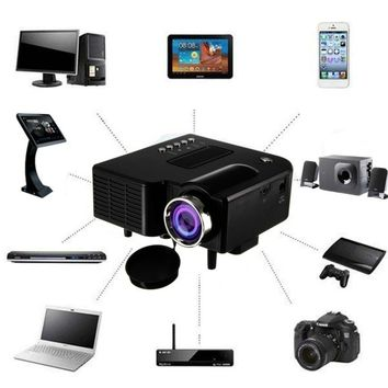 Portable 1080P Full HD Mini Projector Home Theater Cinema AV VGA USB HDMI
