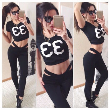 Hot Sale Women's Fashion Print Sportswear Set [9115641479]