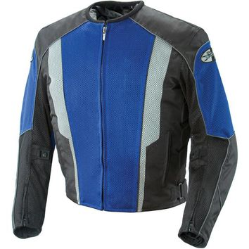 Joe Rocket Phoenix 5.0 Mens Blue/Black Mesh Motorcycle Jacket