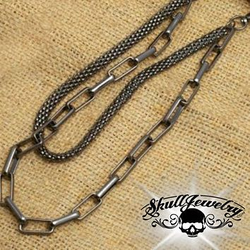 'Drift Away' Big, Bold & Heavy Gray Wallet Chain (WALLET_CHAIN015)