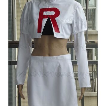 Team Rocket Jessie Cosplay Costume   for Halloween and ChristmasKawaii Pokemon go  AT_89_9