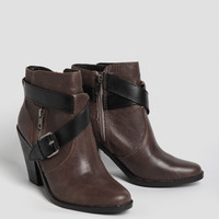 Conary Booties In Dark Brown Leather By Dolce Vita
