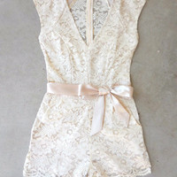 Sweet Ivory Lace Romper