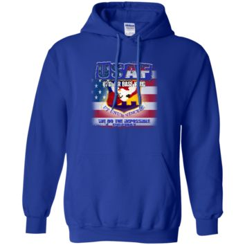 UNITED STATES AIR FORCE : 87TH AIR BASE WING: G185 Gildan Pullover Hoodie 8 oz.