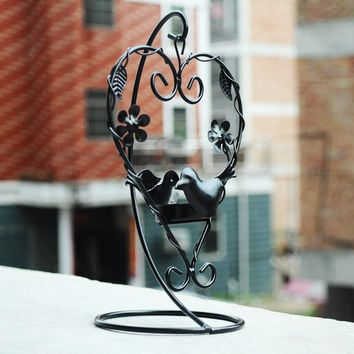Home Decor Iron Couple Decoration Creative Gifts Candle Stand [6282846662]