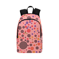 colorful circles 02 Fabric Backpack for Adult (Model 1659) | ID: D2718605