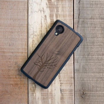 Wood Google Nexus 5 Case, Enraved Tree Wooden Nexus 5 Case - FFNW5