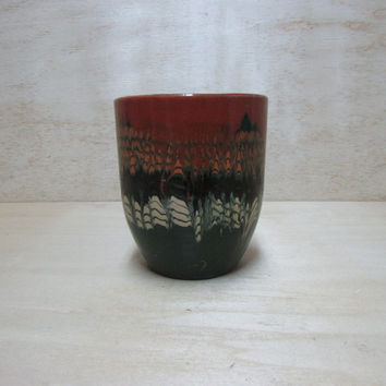 Vintage Wine Cup, Ceramic Cup, Hand made Cop for Red Wine and Hand Painted, Beautiful Cop, Bulgarian  Art Design, Gift Idea