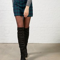 Hearts and Bows Prima Tartan Highwaisted Mini Skirt | ARK Clothing